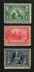 [SD]   US #328-330 MNH OG 1907 JAMESTOWN Expo Issue Set...FREE SHIPPING!!!