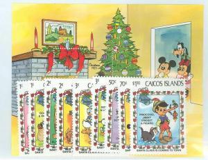 Caicos Islands 1983 Scott 22-31 Christmas MNH
