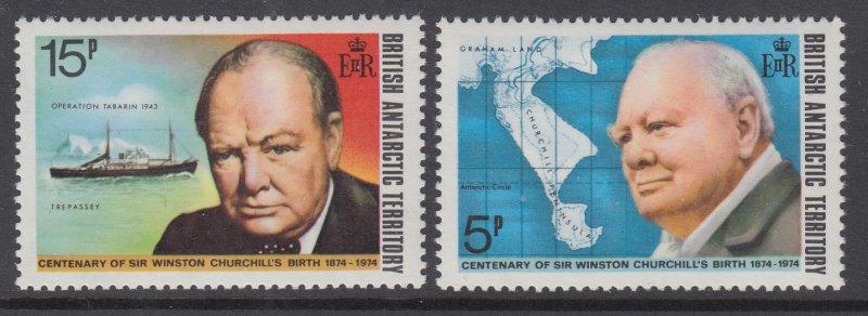 British Antarctic Territory 52-53 Churchill MNH VF