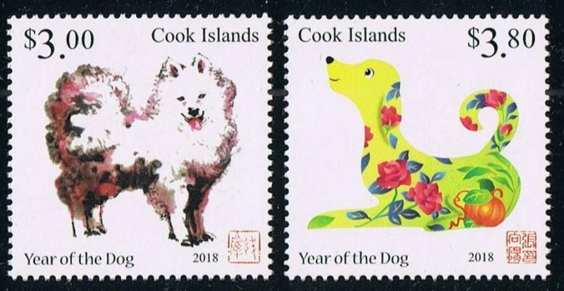 2017 Cook Islands 2151-2152 Chinese calendar - Year of the dog 13,00 €