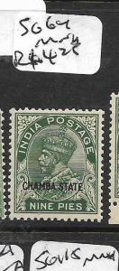 INDIA CHAMBA (P3008B) KGV 9P  SG64  MNH