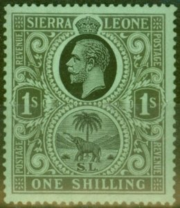 Sierra Leone 1925 1s Black-Emerald SG143 Fine MNH