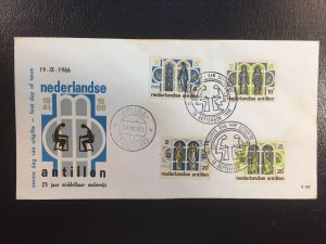 Netherland Antilles #304-307 FDC Used