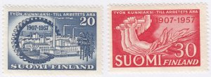Finland, Sc 347-348, MNH, 1959, Central Federation of Employees