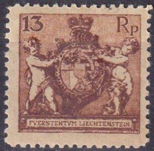 Liechtenstein  #60  F-VF Unused  CV $10.50 (Z3148)