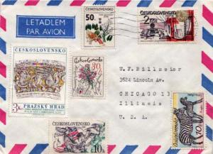 Czechoslovakia, Airmail, Flowers, Art, Animals, Horses
