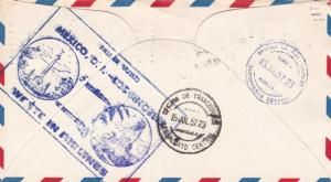 western airlines 1957 los angeles to mexico city  first flight cover  r15389