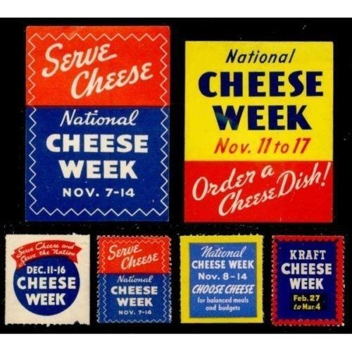 US - Cheese Week Advertising Poster Stamps
