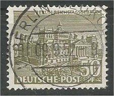 BERLIN, 1949, used 50pf Buildings Scott 9N53
