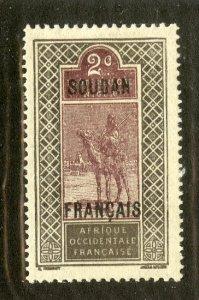 FRENCH SUDAN 22 MH BIN .30 MAMMAL