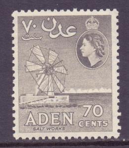 Aden Scott 54 - SG61, 1954 Elizabeth II 70c MH*