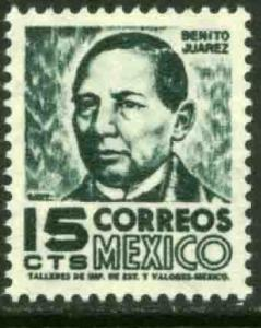 MEXICO 877(a) 15cents REDRAWN 1950 Definitive 2nd Printing wmk 300 MINT, NH. VF.