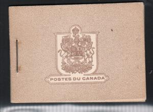Canada Booklet #25 (French) Very Fine Mint Complete Booklet