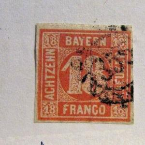 Bavaria Bayern  Sc #80 Θ used, very fine postage stamp
