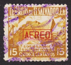 El Salvador Scott C52 F+ used.