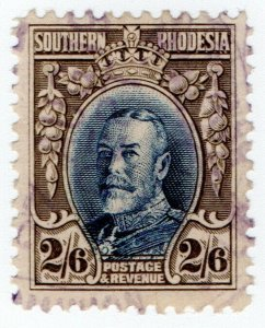 (I.B) Southern Rhodesia Revenue : Duty Stamp 2/6d (perf 11.5)