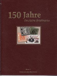 150 Jahre Deutsche Briefmarke. 3 vols in Slipcase, hardcover, NEW
