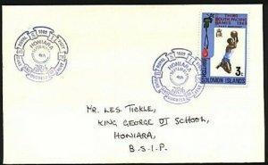SOLOMON IS 1969 local cover Honiara ROYAL VISIT commem cancel..............94032