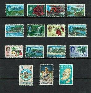 Grenada: 1967, Associated Statehood Overprints on definitive set, Mint