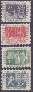 Netherlands # 332-335, Telegraph & Mail Delivery, Hinged, 1/3 Cat.