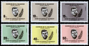 El Salvador Scott 747-749, C211-C213 (1964) Mint NH VF Complete Set C