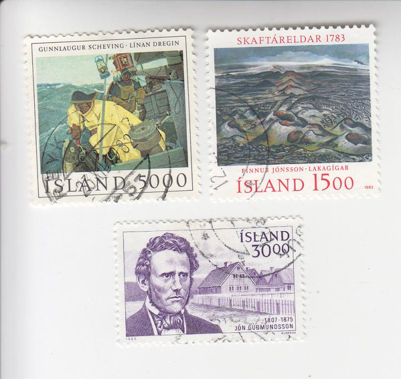 Iceland Sc#s 548, 577, 614 used