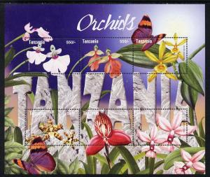 Tanzania 2004 Orchids perf sheetlet containing 6 values u...