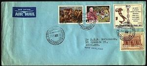 VATICAN 1970 airmail cover to New Zealand - nice franking.................98522A