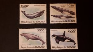 Burundi 2011. - Marine life - Whalea ** MNH complete set (perforated)