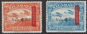 NICARAGUA C141-42 MLH SCV $4.50 BIN $1.80 AIRPLANES