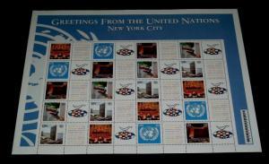 U.N. 2003, NEW YORK #857a, PERSONALIZED SHEET OF 20, MNH, NICE!! LQQK!!!