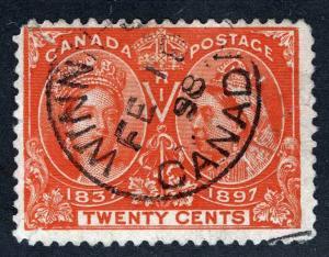 CANADA 59 Winipeg Feb 18 1898 CDS Cancel
