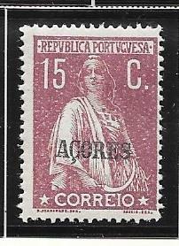 Azores #165 15c 1912 issue   (M)  CV $17.00
