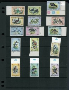 Wholesale Lot Birds. Montserrat 524-68 Specimen sets x 5. Cat.216.25