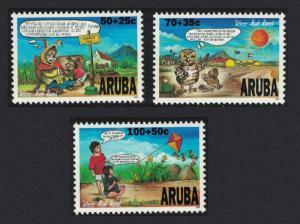 Aruba Child Welfare Comic Strips 3v 1996 MNH SG#189-191