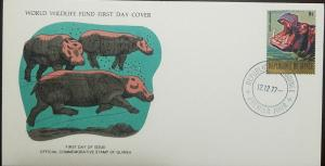 L) 1977 REPUBLIC OF GUINEA, RHINO, FAUNA, ANIMALS, MAMMAL, 9S, WORLD WILDLIFE