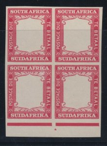 South Africa, SG D18 Proof, MNH block with sheet margin, Color of 1p