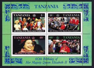 Tanzania Queen Elizabeth II 60th Birthday MS SG#MS521 SC#336a