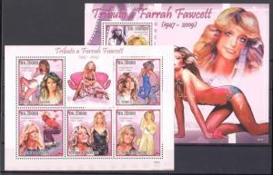 Sao Tomé e Príncipe stamp MNH Farrah Fawcett WS92854