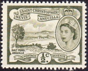 St. Kitts and Nevis 120 - Mint-NH - 1/2c Salt Pond, Anguilla (1956) (cv $0.40)