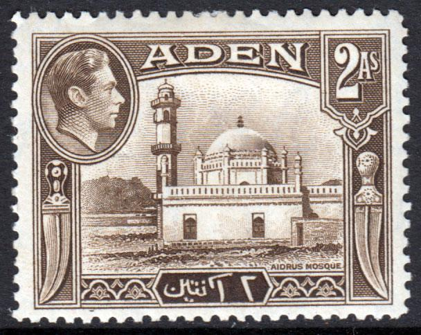 Aden KGVI 1939 2a Sepia SG20 Mint Hinged
