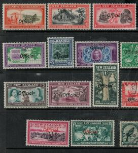 New Zealand 1940 SC O76-O96 Used CV $98.00 Set