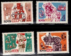 Russia Scott 2697-2700 MNH** Childrens stamp set
