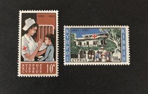 Cyprus 1963 #227-28 MNH SCV $4.25