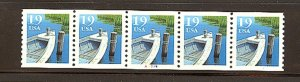 USA PNC- SC# 2529 BOAT 19c.PL# A7779 WATER ACTIVATED MNH PNC5
