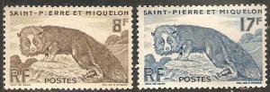 St. Pierre and Miquelon #343-344 MNH CV$11.75 Silver Fox [199940]