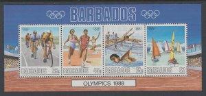Barbados 730a Summer Olympics Souvenir Sheet MNH VF