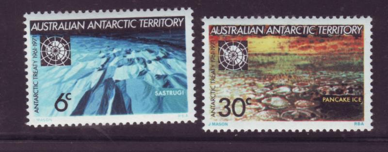 J16472 JLstamps 1971 AAT australia set mnh #L19-20 antarctic views
