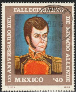 MEXICO 1445 175th Death Ann Heroes of Independence USED VF (1232)