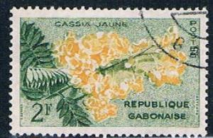 Gabon 156 Used Yellow Cassia ur 1961 (G0304)+